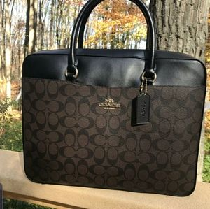 Coach Signature Business Bag
